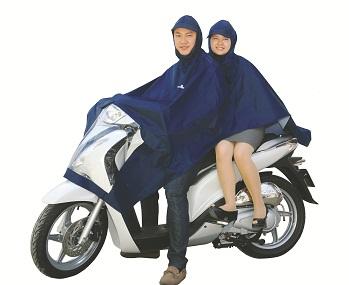 Áo mưa siêu nhẹ 2 mũ