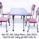 Bàn ghế bằng Composite