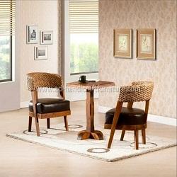 Bàn ghế cafe lục bình WACF-024
