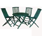Bàn ghế may tre đan