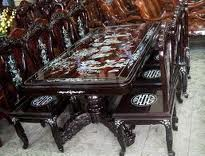 Bàn ghế sơn mài