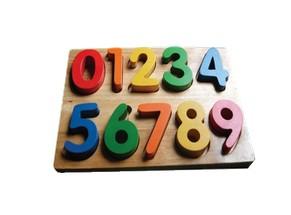 Bảng chữ số bằng gỗ