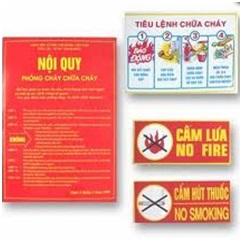 Bảng hướng dẫn chữa cháy