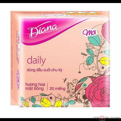 Băng vệ sinh Diana hàng ngày mặt bông