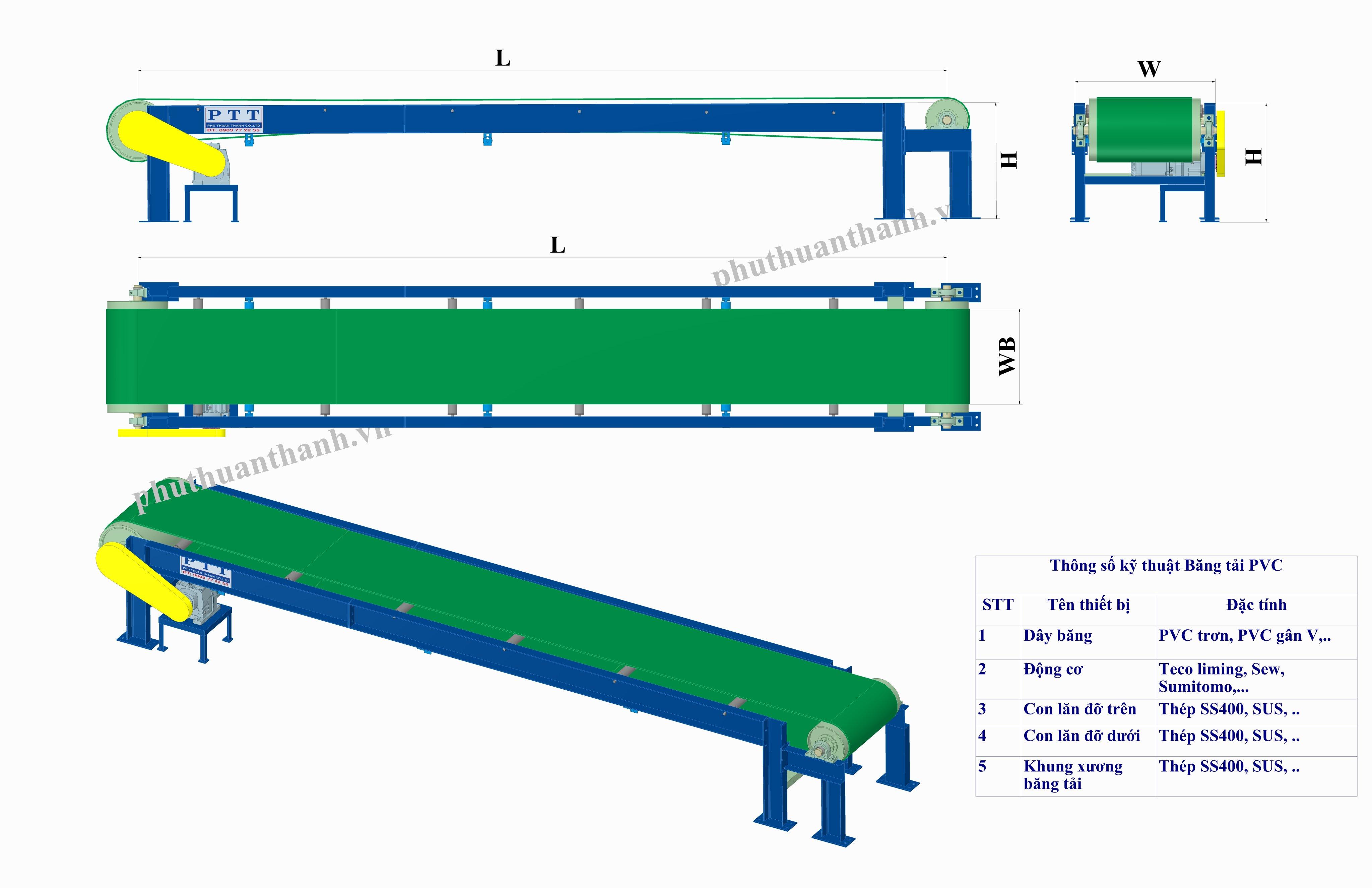 Băng tải PVC