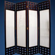 Bình phong khung gỗ