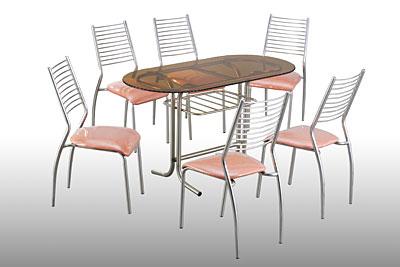 Bộ bàn ghế inox 2
