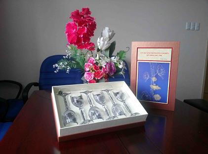 Bộ hộp quà tặng pha lê