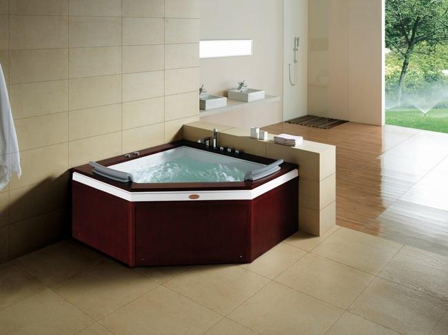 Bồn tắm massage ốp gỗ