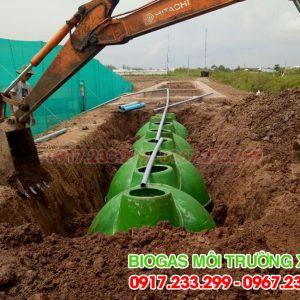 Hầm bể biogas composite đường kính 2,9m