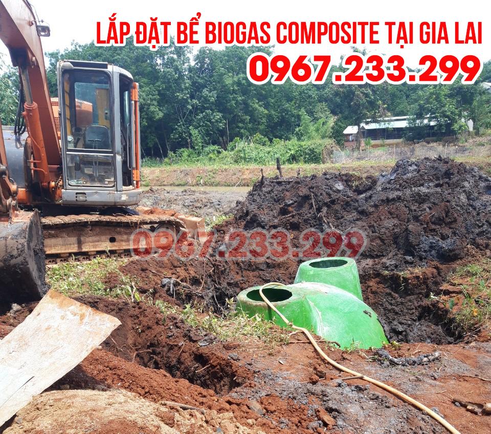 Lắp đặt bể biogas composite