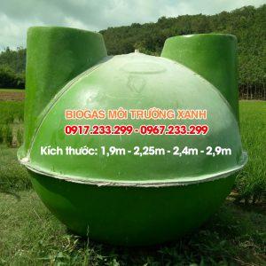 Hầm bể biogas đường kính 1,9m