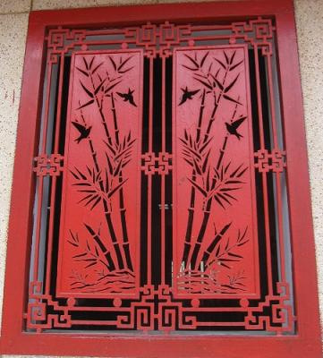 Cắt CNC hoa sắt cửa sổ tranh tứ quý