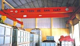 Cầu trục dầm đôi có kèm thiết bị mang tải