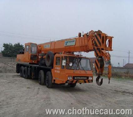 Cho thuê xe cẩu bánh lốp Tadano 25 tấn - 50 tấn
