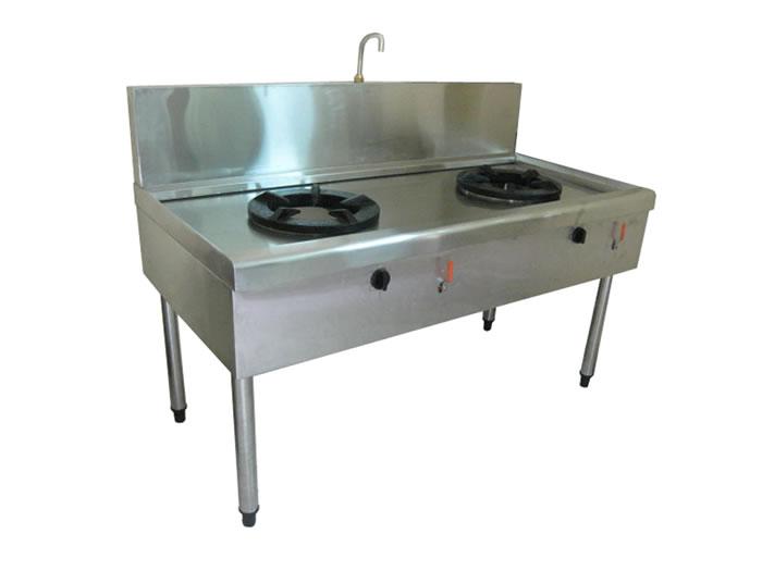Bếp inox công nghiệp 2 họng đốt