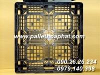 PALLET NHỰA MÀU ĐEN 1100X1100X120MM