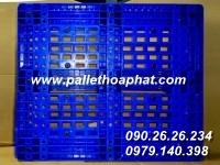 PALLET NHỰA MÀU XANH 1000X1200X160MM