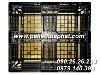 PALLET NHỰA MÀU ĐEN 1100X1200X150MM