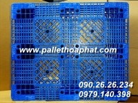 PALLET NHỰA MÀU XANH 1000X1200X150MM