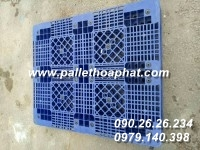 PALLET NHỰA 2 MẶT 1000X1200X150MM