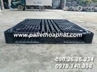 PALLET NHỰA ĐEN 1100X1300X130MM
