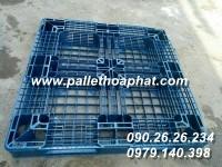 PALLET NHỰA MÀU XANH 1100X1100X125MM