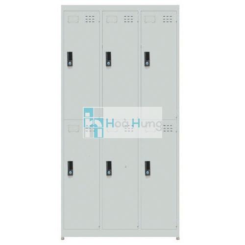 Tủ locker sắt 6C - 3D
