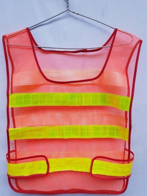 Áo lưới phản quang màu đỏ