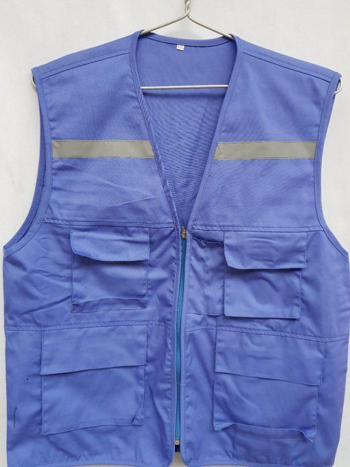 Áo Gile túi hộp màu xanh dương