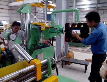 Gia công chế tạo máy đóng gói thép cuộn