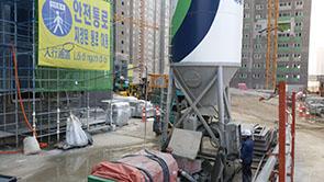 Hệ thống bồn trộn vữa - Cọc xi măng đất
