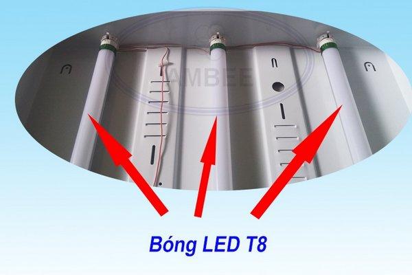 Bộ Máng Đèn LED Bóng Rời Âm Trần 0,6m(4 Bóng)