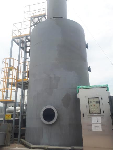 Bọc phủ bồn xử lý khí thải