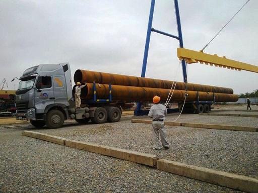 Lô hàng ống dài 25m