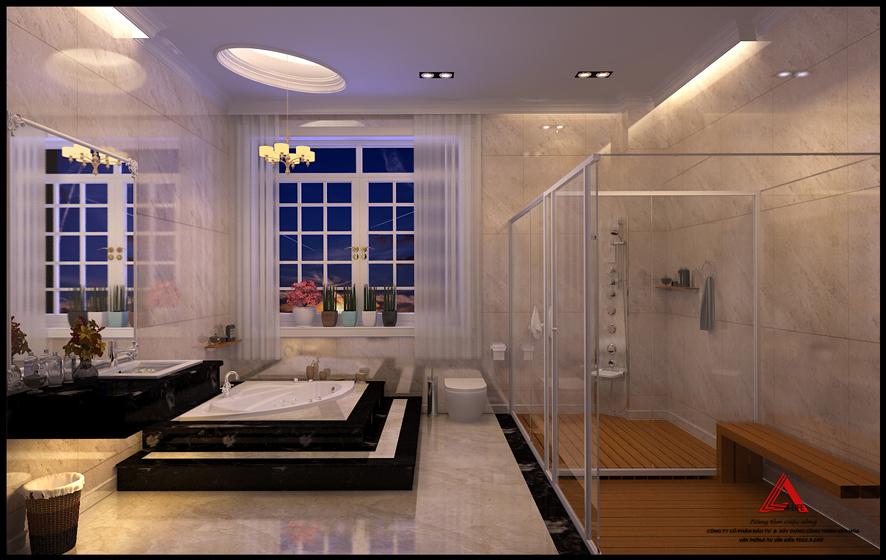 Thiết kế phòng tắm, xông hơi