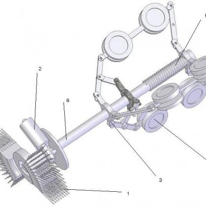Chổi máy quét ống rác