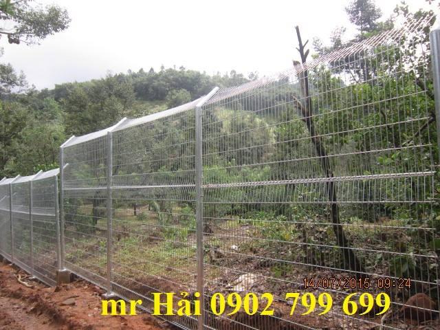 Hàng rào mạ kẽm cao 3,5 m