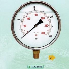 Đồng hồ áp suất mặt chứa dầu