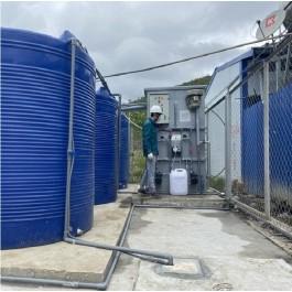 Xử lý nước thải khu lán trại