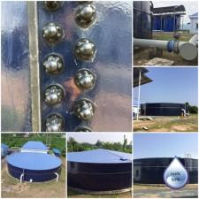 Bể chứa - Nhà máy nước mặt Đông Bình