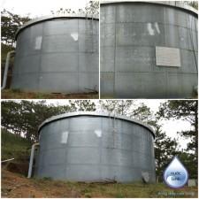 Lắp đặt bể chứa thép đồi Măng Lin