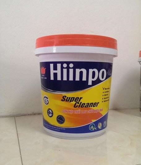 Sơn Hiinpo nội thất lau chùi hiệu quả