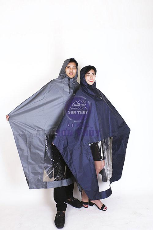 Áo mưa vải tráng nhựa PU