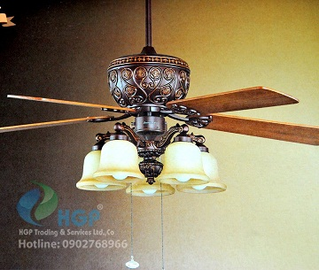 Quạt trần đèn