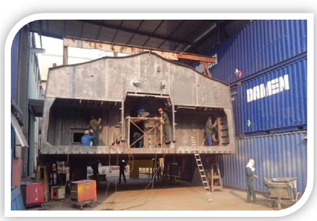 Gia công dầm kết cấu thép siêu trường