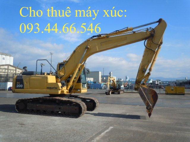 Cho thuê máy xúc đào PC 200 - 8
