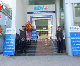 Bảo vệ an ninh ngân hàng BIDV