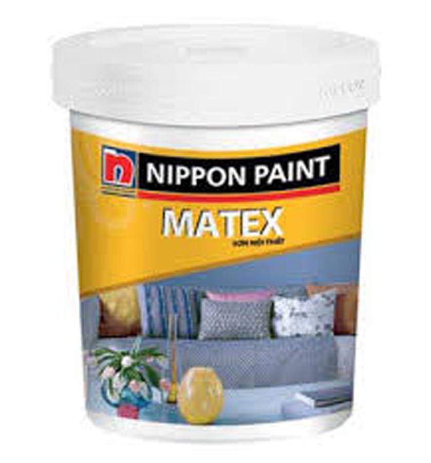 Sơn phủ nội thất Nippon Matex màu chuẩn 5Kg