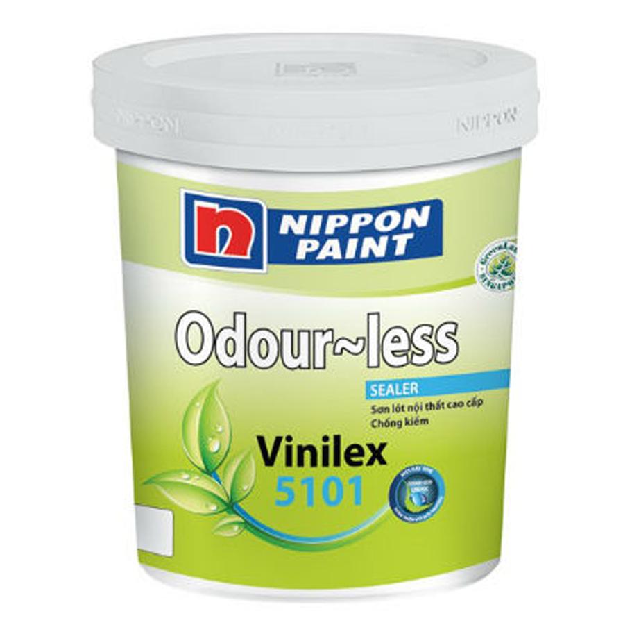 Sơn lót chống kiềm trong nhà Nippon Odourless Sealer không mùi màu trắng 5L